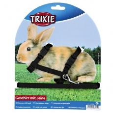 Oprsnica s povodcem za zajce - plastična zaponka, črna