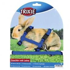 Oprsnica s povodcem za zajce - plastična zaponka, modra