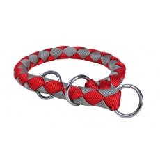 Ovratnica za pse, rdeče-siva - L - XL, 52 - 60 cm