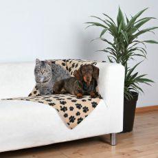 Odeja za pse in mačke, siva s tačkami, 70 x 100 cm
