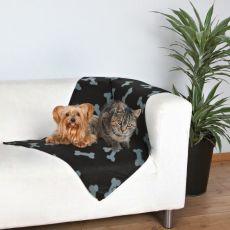 Odeja za pse in mačke z vzorcem kosti