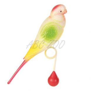 Igrača za ptice - skobčevka z žogo, 15 cm