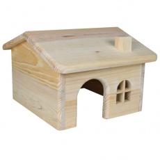 Hiška za glodalce, nagnjena streha - majhna