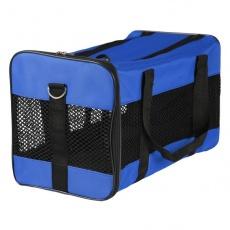 Transportni boks za psa ali mačko – moder, 46 x 28 x 26 cm