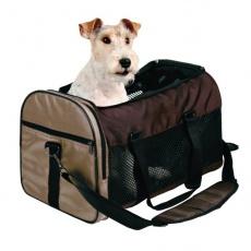 Nosilna torba za pse in mačke - rjava, 31 x 32 x 52 cm