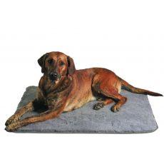 Siva podloga za psa - 100 × 75 cm