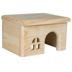 Hiška za glodalce, ravna streha - majhna