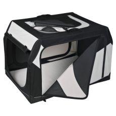 Transportni boks za psa s kovinskim okvirjem – 91 x 58 x 61 cm