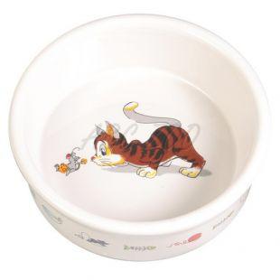 Posoda za mačko z motivom, keramična - 0,2 l