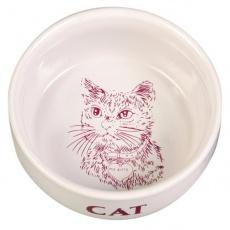 Keramična posoda za mačke s sličico - 0,3 l