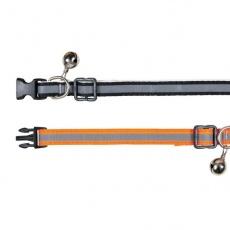 Odsevna mačja ovratnica, oranžna - 15 - 20 cm