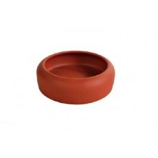 Posoda za hrčke z zaobljenim robom, keramična - 215 ml