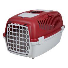Transportni boks za pse, težke do 12 kg – rdeč