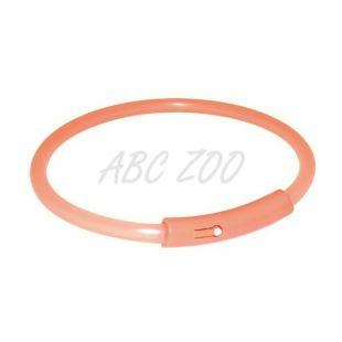 Svetlobna ovratnica za pse - oranžna, S