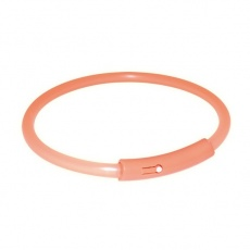 Svetlobna ovratnica za pse - oranžna, plastična, XL