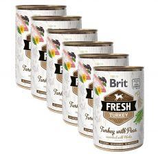 Konzerva Brit Fresh Turkey with Peas 6 x 400 g