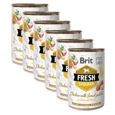 Konzerva Brit Fresh Chicken with Sweet potato 6 x 400 g