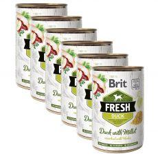 Konzerva Brit Fresh Duck with Millet 6 x 400 g