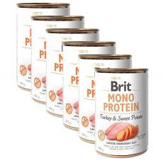 Konzerva Brit Mono Protein Turkey & Sweet Potato, 6 x 400 g