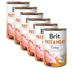Konzerva Brit Paté & Meat Turkey 6 x 400 g