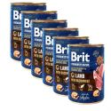 Konzervirana hrana Brit premium by Nature Lamb with Buckwheat 6 x 400 g