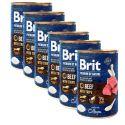 Konzervirana hrana Brit premium by Nature Beef & Tripe 6 x 400 g