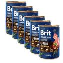 Konzervirana hrana Brit premium by Nature Pork & Trachea 6 x 400 g