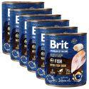 Konzervirana hrana Brit premium by Nature Fish & Fish Skin 6 x 800 g