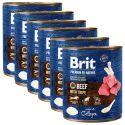Konzervirana hrana Brit premium by Nature Beef & Tripe 6 x 800 g