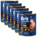 Konzervirana hrana Brit premium by Nature Pork & Trachea 6 x 800 g
