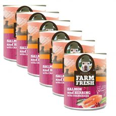Farm Fresh - Salmon and Herring with Cranberries 6 x 375 g