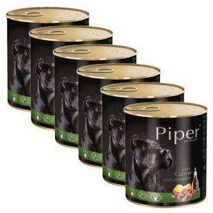 Konzerva Piper Adult divjačina in buča 6 x 800 g