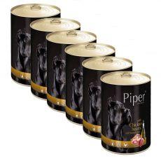 Konzerva Piper Adult piščančja srca in rjavi riž 6 x 400 g