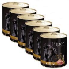 Konzerva Piper Adult piščančja srca in rjavi riž 6 x 800 g
