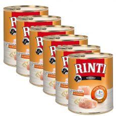 Konzervirana hrana RINTI SENSIBLE piščanec in riž 6 x 800 g