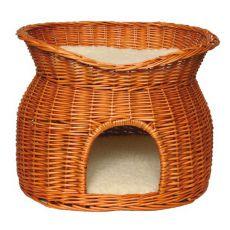 Pletena postelja za psa ali mačko - votlina
