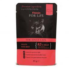 Fitmin Cat For Life Beef vrečka 85 g