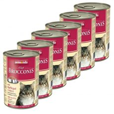 Animonda Cat BROCCONIS perutnina in srca 6 x 400 g