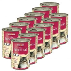 Animonda Cat BROCCONIS perutnina in srca 12 x 400 g