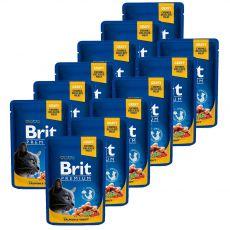 Vrečka BRIT Premium Cat Salmon & Trout 12 x 100 g