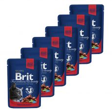 Vrečka BRIT Premium Cat Beef Stew & Peas 6 x 100 g