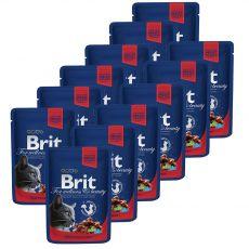 Vrečka BRIT Premium Cat Beef Stew & Peas 12 x 100 g