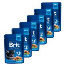 Vrečka BRIT Premium Kitten Chicken Chunks 6 x 100 g