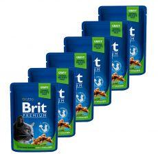 Vrečka BRIT Premium Cat Chicken Slices for Sterilised 6 x 100 g