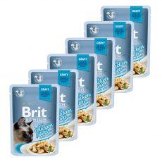 Hrana v vrečki BRIT Premium Cat Chicken in Gravy 6 x 85 g
