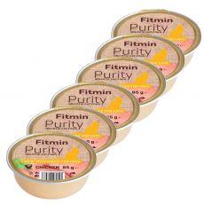 Fitmin Cat Purity hrana s piščancem v posodici 6 x 85 g