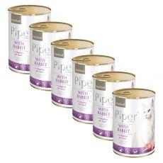 Konzerva Piper Cat Sterilised zajec 6 x 400 g