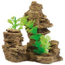 Okras AQUA EXCELLENT Rock with plant 14 x 10,5 x 13 cm