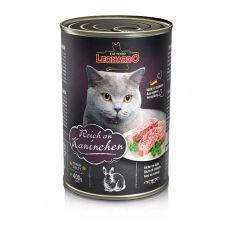 Mokra hrana za mačke Leonardo - zajec 400 g