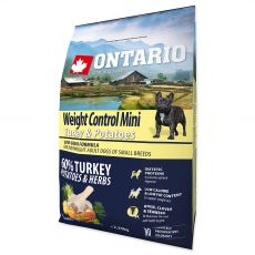 ONTARIO Weight Control Mini - turkey & potatoes, 2,25 kg